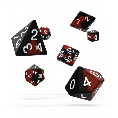 Oakie Doakie Dice dés RPG-Set Glow in the Dark - Lava (7)