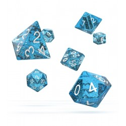 Oakie Doakie Dice dés RPG-Set Speckled - Bleu clair (7)