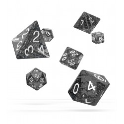 Oakie Doakie Dice dés RPG-Set Speckled - Noir (7)