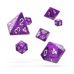 Oakie Doakie Dice dés RPG-Set Speckled - Violet (7)