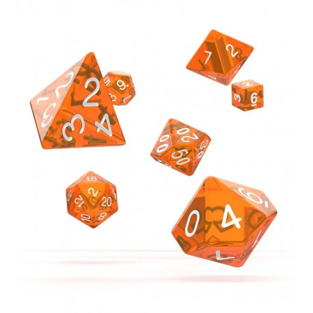 Oakie Doakie Dice dés RPG-Set Translucent - Orange (7)