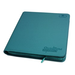 Ultimate Guard 12-Pocket QuadRow ZipFolio XenoSkin Bleu Pétrole