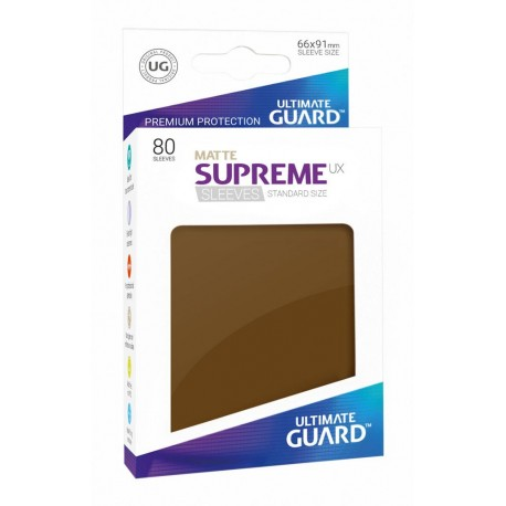 Ultimate Guard 80 pochettes Supreme UX Sleeves taille standard Marron Mat