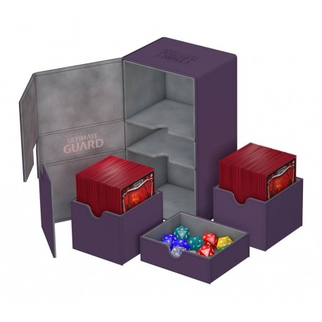 Ultimate Guard boîte pour cartes Twin Flip´n´Tray Deck Case 200+ taille standard XenoSkin Violet
