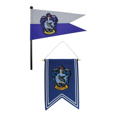 Harry Potter set bannière & drapeau Ravenclaw