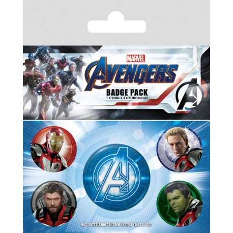 Avengers : Endgame pack 5 badges Quantum Realm Suits