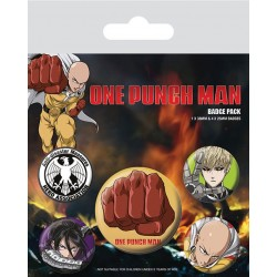 One Punch Man pack 5 badges Destructive