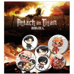 Attack on Titan pack 6 badges Mix 2