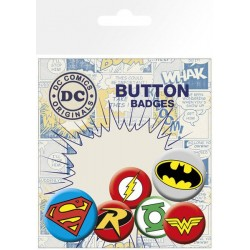 DC Comics pack 6 badges Logos