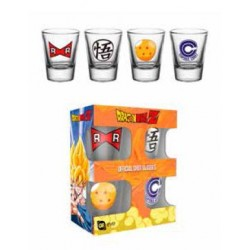 Dragon Ball Z Set 4 verres à liqueur Mix