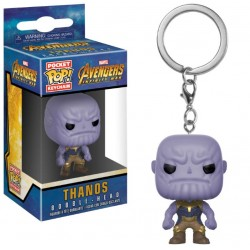 Avengers Infinity War porte-clés Pocket POP! Vinyl Thanos 4 cm