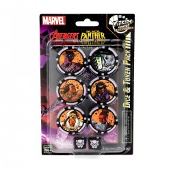 Marvel HeroClix : Avengers Black Panther and the Illuminati Dice and Token Pack