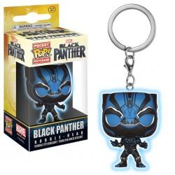 Black Panther Movie porte-clés Pocket POP! Vinyl Black Panther (Glow) 4 cm