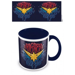 Captain Marvel mug Coloured Inner Higher Further Faster
