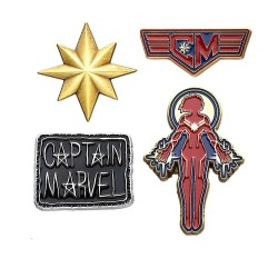 Marvel pack 4 pin's Captain Marvel