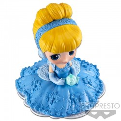 Disney figurine Q Posket SUGIRLY Cinderella A Normal Color Version 9 cm