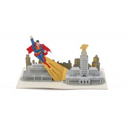 DC Comics carte pop-up 3D Superman
