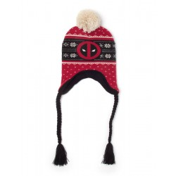 Deadpool bonnet de ski Red Badge Xmas Laplander