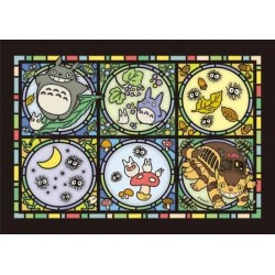 Mon voisin Totoro Puzzle acrylique Art Crystal Totoro's Forest Letter