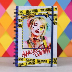 Birds Of Prey cahier à spirale A5 Harley Quinn Warning