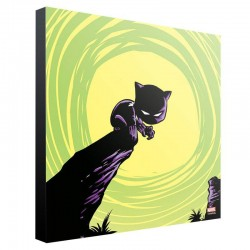 Marvel tableau en bois Black Panther by Skottie Young 30 x 30 cm