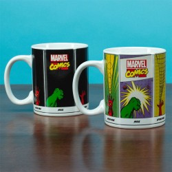 Marvel Comics mug effet thermique Super Powers