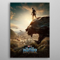 Marvel poster en métal Black Panther Long Live The King 32 x 45 cm