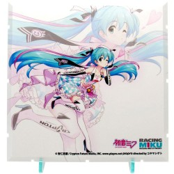 Dioramansion 150 accessoire pour figurines Racing Miku Pit 2019 Optional Panel (Key Visual 2)