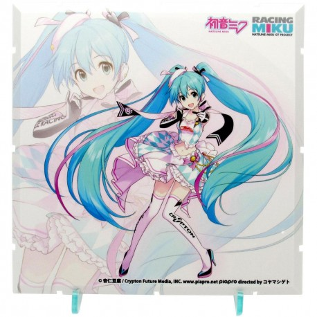 Dioramansion 150 accessoire pour figurines Racing Miku Pit 2019 Optional Panel (Key Visual 1)