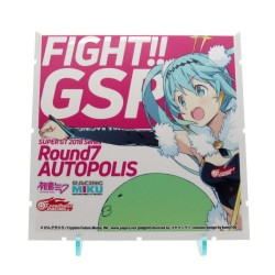 Dioramansion 150 accessoire pour figurines Racing Miku Pit 2018 Optional Panel (Rd. 7 AUTOPOLIS)