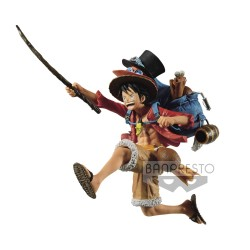 One Piece statuette PVC Three Brothers Monkey D. Luffy 11 cm
