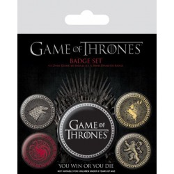 Game of Thrones pack 5 badges Great Houses