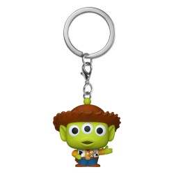 Toy Story porte-clés Pocket POP! Vinyl Alien as Woody 4 cm