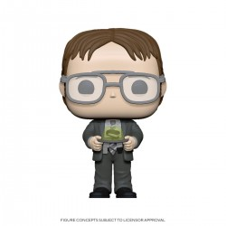 The Office US POP! TV Vinyl Figurine Dwight w/Jello Stapler 9 cm