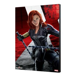 Black Widow Movie tableau en bois BW Kneeling 34 x 50 cm
