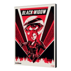 Black Widow Movie tableau en bois BW Moscow 34 x 50 cm