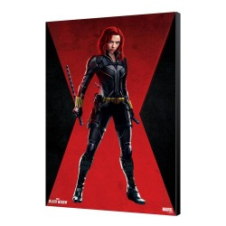 Black Widow Movie tableau en bois BW Red Room 34 x 50 cm