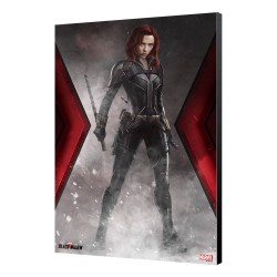 Black Widow Movie tableau en bois BW Smoke 34 x 50 cm