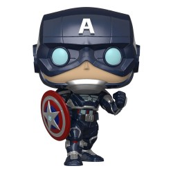 Marvel's Avengers (2020 video game) POP! Marvel Vinyl Figurine Captain America 9 cm