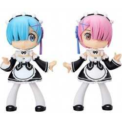 Re: Zero -Starting Life in Another World- figurines Soft Vinyl Yurumari Rem & Ram 14 cm