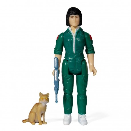Aliens Wave 3 figurine ReAction Ripley with Jonesy (Blue Card) 10 cm