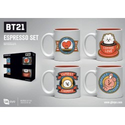 BT21 pack 4 tasses Espresso Icons