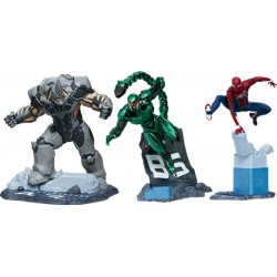 Marvel's Spider-Man statuettes 1/12 Spider-Man, Rhino & Scorpion 17 cm