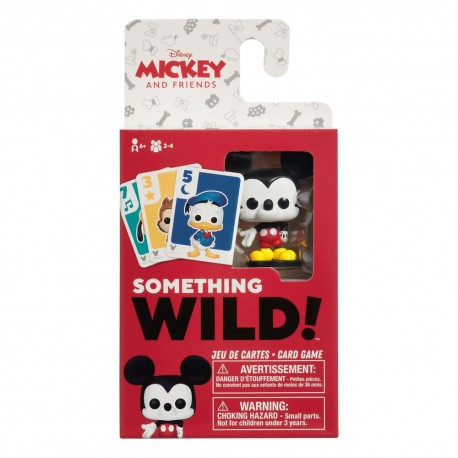 Mickey and Friends carton de 4 jeux de cartes Something Wild! *FRANÇAIS / ANGLAIS*