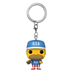 Simpsons porte-clés Pocket POP! Vinyl USA Homer 4 cm