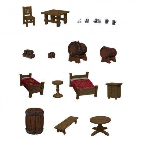 D&D Icons of the Realms miniatures prépaintes The Yawning Portal Inn - Beds & Bottles