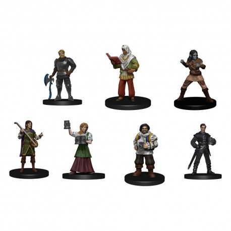 D&D Icons of the Realms miniatures prépaintes The Yawning Portal Inn - Friendly Faces Pack