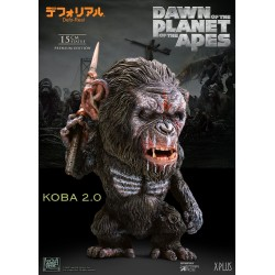 La Planète des singes L'Affrontement statuette Deform Real Series Soft Vinyl Koba Spear Ver. 15 cm