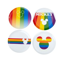 Disney pack 4 plaques Mickey Rainbow