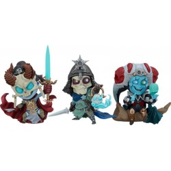 Court of the Dead pack 3 statuettes Kier, Relic Ravlatch, & Malavestros: Court-Toons Collectible Set
